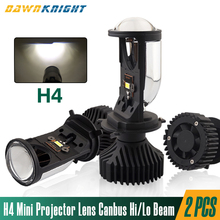 2PCS H4 FÜHRTE Mini Projektor Objektiv 12V 6000K 90 W/Pair Fernlicht Abblendlicht Canbus Led Scheinwerfer für Autos Turbo Led lampen H4 RHD LHD