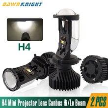 2PCS H4 LED מיני מקרן עדשת 12V 6000K 90 W/Pair קורה גבוה נמוך Beam Canbus Led פנס עבור מכוניות טורבו LED נורות H4 RHD LHD