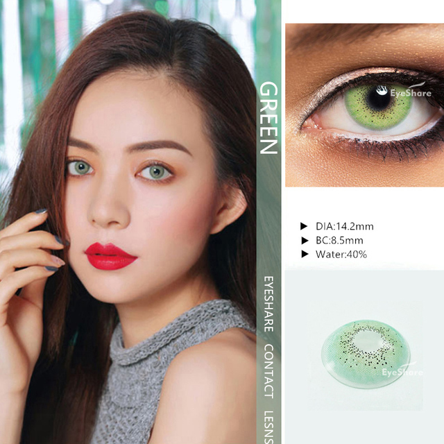EYESHARE- 1 Pair  Bitas Ocean Color  Beautiful Pupil Contact Lenses Cosmetic Contact Lens Eye Color (2pcs) 2