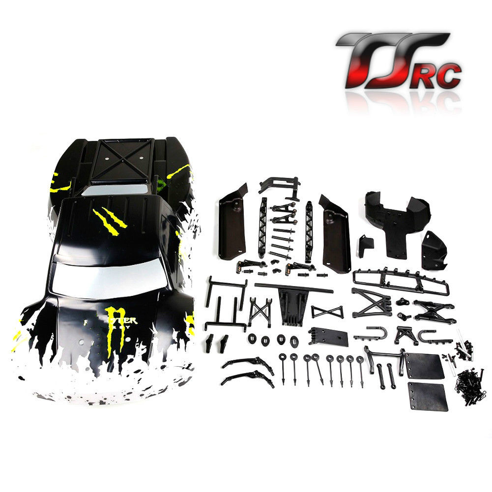 Car Shell Upgrate Frame Part New Body for 1/5 Hpi Rovan Km Baja 5sc Rc Car Parts
