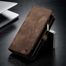 CaseMe Wallet Case Flip Detachable Leather Magnetic Cover Phone For Samsung Galaxy Note10 Note10Plus Zipper Stand  KS0290