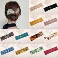 Neue Design Magie Frauen Haar Bands DIY Brötchen Maker Stirnbänder Wildleder Floral Print Verknotet Draht Haarbänder Twist Maker Haar Zubehör