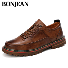 Autumn And Winter New Fashion Mens Shoes Classic Retro Breathable Leather Upper Comfortable Simple Wild Work
