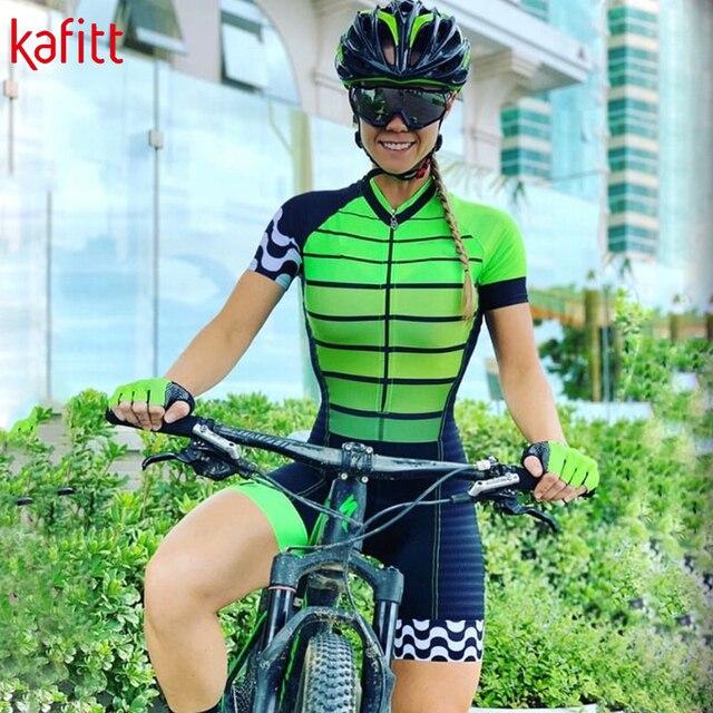 Novo pro macaquinho ciclismo feminino senhoras de manga curta camisa de ciclismo terno geral triathlon mountain bike camisa shorts 5