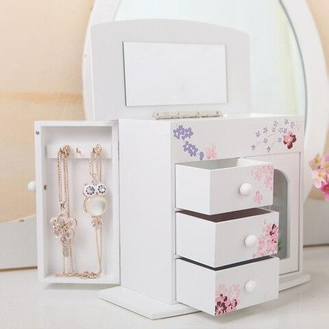 espelho de mesa caixa armazenamento casa