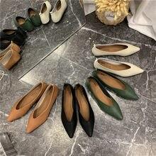 Comemore 2021 nova primavera confortável senhora sapatos planos apontou toe apartamentos mais tamanho feminino calçados femininos conforto senhoras sapatos