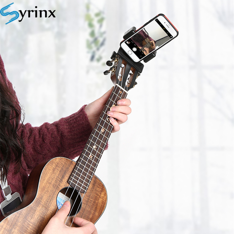 2020 Mobile Phone Live Broadcast Bracket Stand Guitar Head Clip Holder Tripod Clip Head Support Desktop Music Guitar Holder