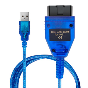 Image 3 - VAG409.1 Vag 409 VAG COM KKL409 OBD2 USB אבחון כבל סורק סריקת כלי ממשק עבור אאודי פולקסווגן פולקסווגן סקודה מושב מכונית