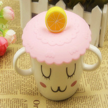 Cover Cup Glass-Mugs Anti-Dust Silicone 10cm Cute Bowl Seals Cap-Diameter Water-Drinking-Cup-Lid