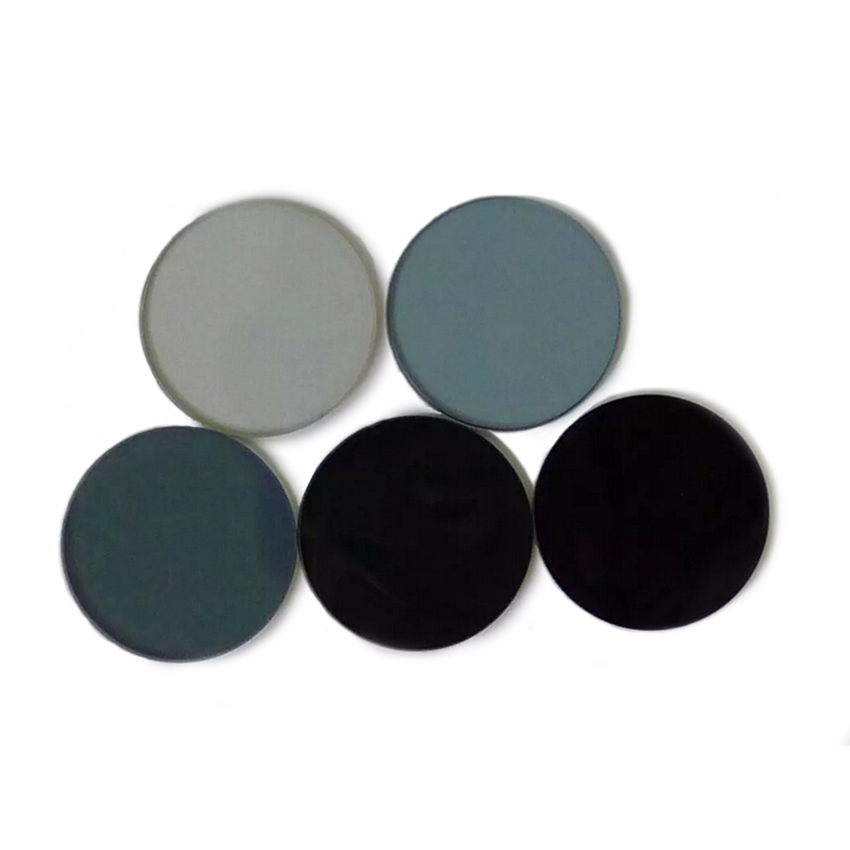 Neutral Dimming Sheet Gray Density Mirror 0.1%, 1%, 5%, 10%, 15% 25%, 30%, 50% 75% Diameter 60mm
