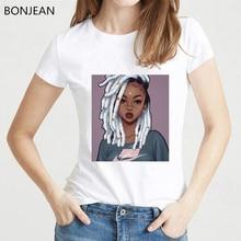 Melanin Poppin Shirt vogue black girl print t shirt summer tops tumblr clothes harajuku shirt oversized tshirt camiseta mujer цены