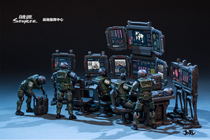 Image 5 - JOYTOY 1/25 Soldiers(5 piece) Battlefield Command Center Action Figures Free shipping