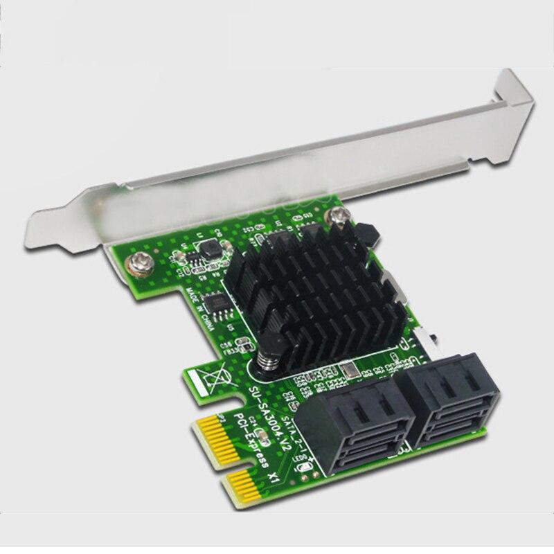88SE9215 puce PCIE vers carte SATA adaptateur PCI-E PCI Express vers carte d'extension SATA3.0 convertisseur SATA III 4 ports pour disque dur SSD