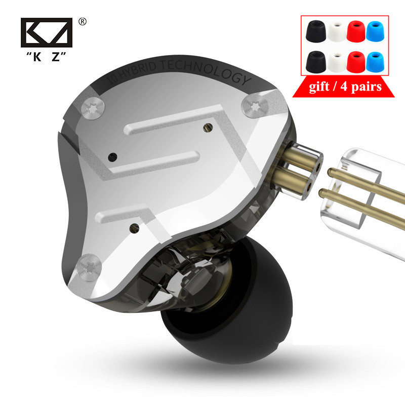 KZ ZS10 PRO 4BA 1DD металлическая гарнитура HIFI гибридные наушники-вкладыши Спортивная гарнитура с шумоподавлением KZ ZSX ZSN ZST x AS16 V90 AS10 C12