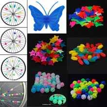 Cycling-Parts Bicycle-Accessories Bike-Spokes Plastic Colorful 1-Pack Wrap-Tubes-Decor