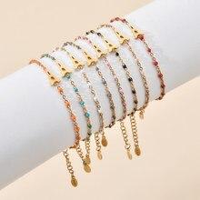 ZMZY Boho Schöne Mehrfarbige Eiffelturm Charme Armband Mode Schmuck Edelstahl Kette Frauen Armbänder Femme