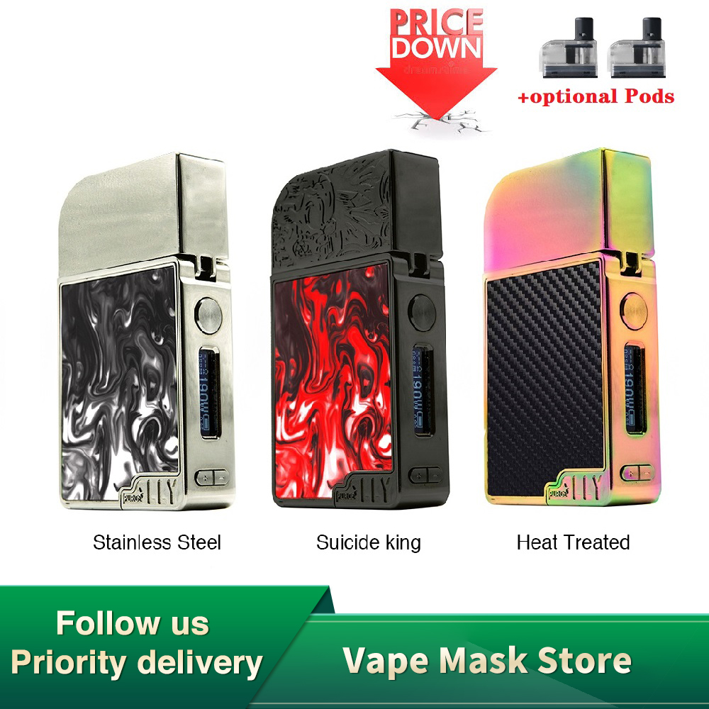 Heavengifts 950mAh Purge Mods Ally Pod TC Battery With Advanced TC/VW/VV Modes & 0.69 Inch OLED Screen Pod Vs Vinci Mod Kit/ Gen