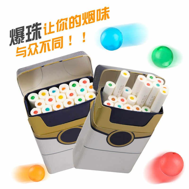 30 sztuk/paczka papieros wyskakuje koraliki owocowy smak miętowy smak uchwyt na papierosy akcesoria do palenia prezent dla mężczyzny filtr uchwytu papierosów