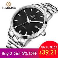 STARKING oryginalny zegarek marki mężczyźni automatyczne self-wiatr ze stali nierdzewnej 5atm wodoodporny biznes mężczyźni Wrist Watch zegarki AM0184