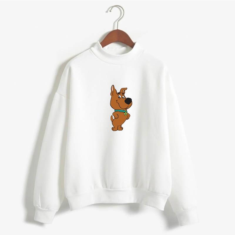 Scrappy Doo Sweatshirt,  Cute Puppy Power Print Sweatshirt Loose BFplus Velvet Women Long Sleeve All-match Beautiful Streetwear