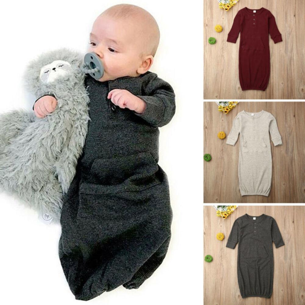 Infant Newborn Baby Cotton Swaddle Blanket Wrap Hooded Towel Robe Sleeping Bag