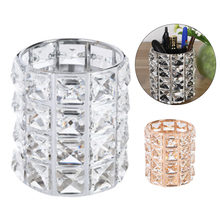 Europe Metal Makeup Brush Storage Tube Eyebrow Pencil Makeup Organizer Bead Crystal Jewelry Storage Box Dropshiping
