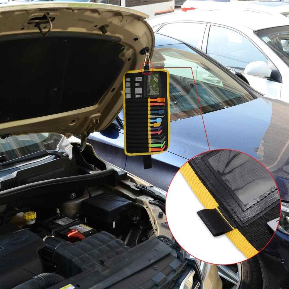 FOSHIO 32PCS Carbon Fiber Vinyl Auto Wrap Werkzeuge Kit Magnetische Rakel mit Werkzeug Tasche Auto Aufkleber Ecke Verpackung Tönung werkzeug