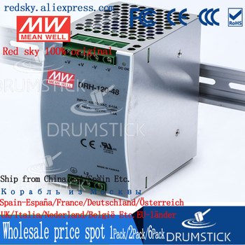 patriotic MEAN WELL DRH-120-48 48V 2.5A meanwell DRH-120 48V 120W Single Output Industrial DIN RAIL Power Supply