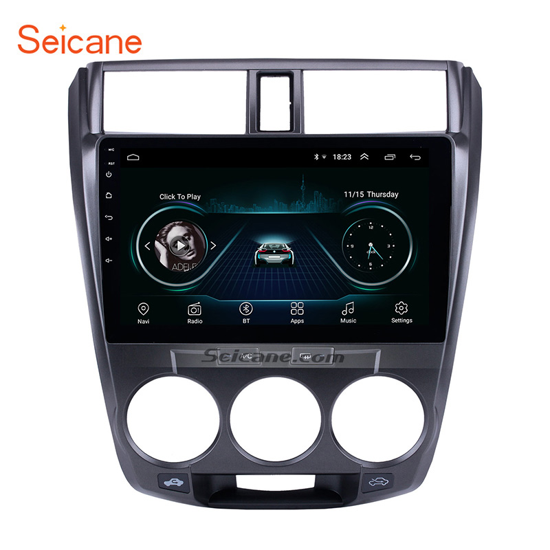 <font><b>Seicane</b></font> Android 8.1 2din Car Stereo Multimedia Player for 2006 2007 2008 2009 2010-2013 <font><b>Honda</b></font> <font><b>CITY</b></font> Auto Radio GPS Navigation image