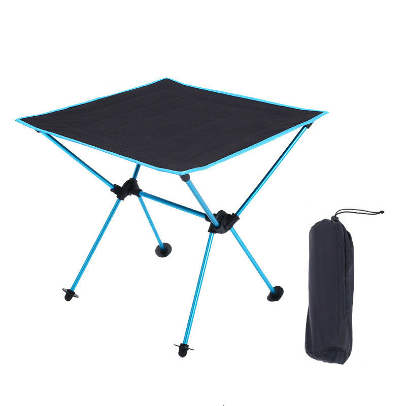 Outdoor Portable Lightweight Folding Table Camping Tisch Aluminium Alloy Picnic Fold Tavel Furniture Tourist Blue Tables Kamp