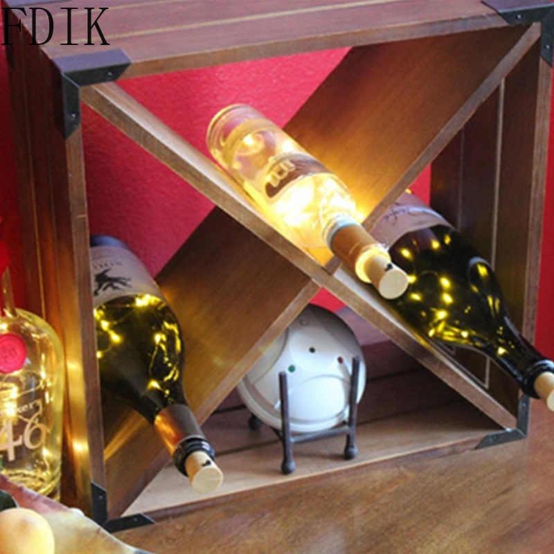 Tapón de botella de vino de cristal, luz de hada en forma de corcho, decoración para Bar, fiesta de Navidad, múltiples colores, lámpara LED, tira de luz