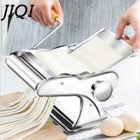 JIQI 스테인레스 스틸 파스타 전기 수동 듀얼 사용 국수 메이커 수제 스파게티 국수 프레스 기계 롤러 반죽 커터