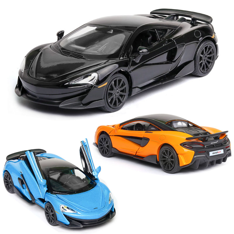 1:32 Free Shipping Alloy Car McLaren 600lt Car Model Super Sports Sound And Light Back Children Toy Collection