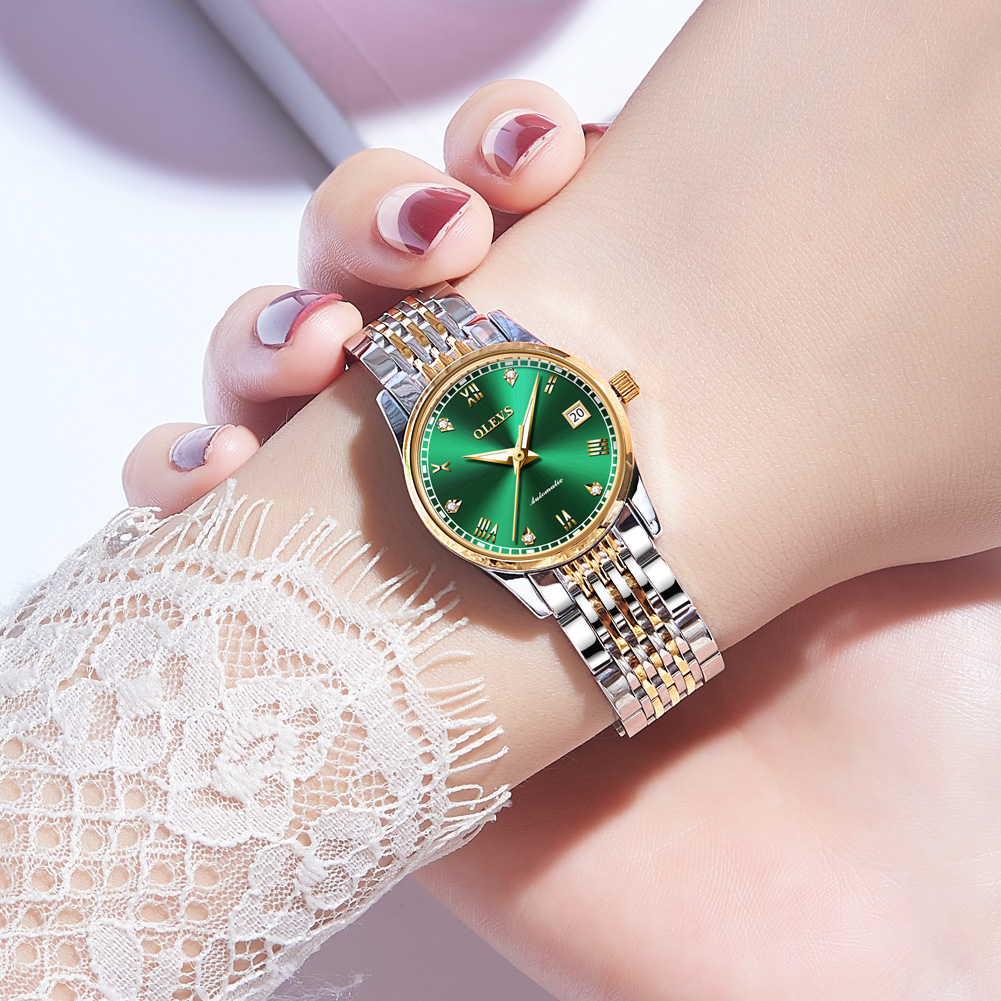 OLEVS  Women Watches Mechanical Watch Luxury Bracelet Wrist Wristwatch Elegant Ladies Automatic Clock Watch Relogio Feminino 4