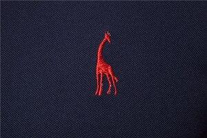 Image 5 - 2020 New Summer Cotton POLO Shirt Men Giraffe Brand Embroidery Polo Shirt Men High Quality Short Sleeve England Style Mens Polos