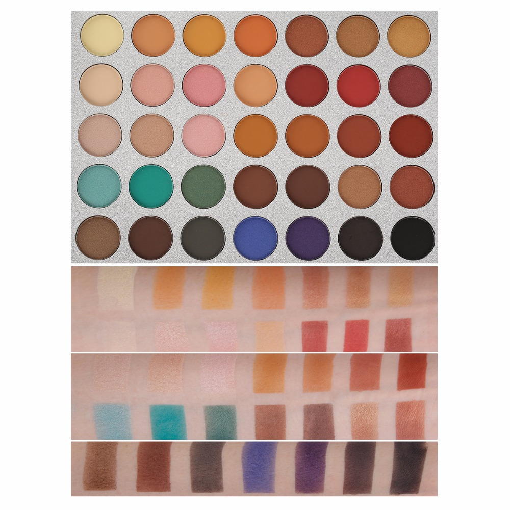 Beauty Tools Chic 35 Color New Face Makeup Eyeshadow Palette Shades Shimmer Matte Eyeshadow Pallete Cosmetics For Morphes Style 6