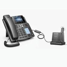 فانفيل X4 المؤسسة IP الهاتف 4 خطوط رشفة الهاتف اللاسلكي للمنزل مكتب الهاتف الثابت HD صوت ل EHS سماعات رأس لاسلكية عبر بروتوكول الإنترنت