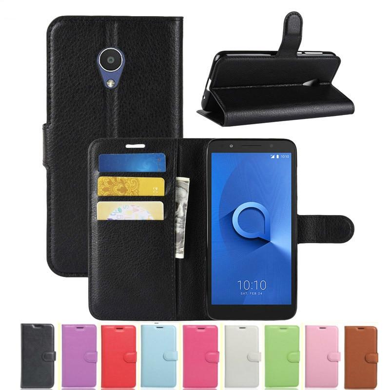 Funda tipo billetera para Alcatel 1X 5059 5059D 5059Y 5059X 5059T 5059J 5059I Funda de cuero con tapa para Alcatel 1X Fundas