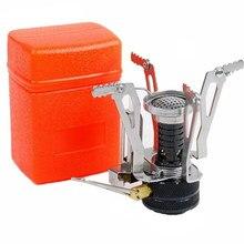 Mini réchaud de Camping pliant, fourneau à gaz d'extérieur, fourneau Portable de cuisine, fourneau fendu pour pique-nique, cuiseur brûleurs nouveauté