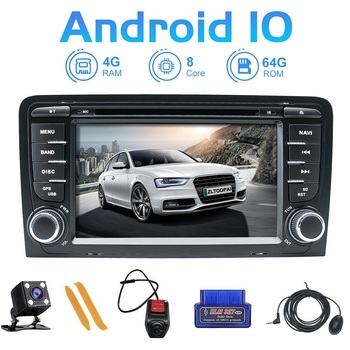 ZLTOOPAI Car Multimedia Player Android 10.0 For Audi A3 S3 2002-2013 GPS Navigation DVD Player DSP USB DVR SWC IPS + Gift