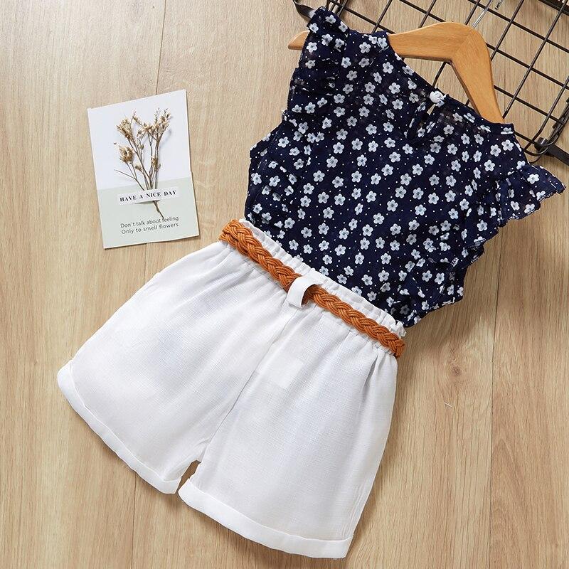 H23ac1748368748c288c373b370cc9981p Menoea Girls Suits 2020 Summer Style Kids Beautiful Floral Flower Sleeve Children O-neck Clothing Shorts Suit 2Pcs Clothes
