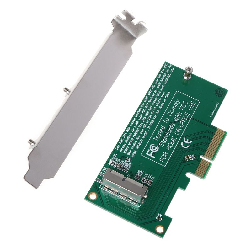 Adapter Card to PCI-E 4X 16X for 2013 2014 2015 2016 for MacBook Air A1465 Pro A1398 Retina SSD Converter
