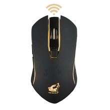 цена 2.4G Wireless Gaming Mouse 6D Rechargeable Silent LED Backlit USB Optical Gamer Ergonomic Mouse with 1600DPI automatic sleep