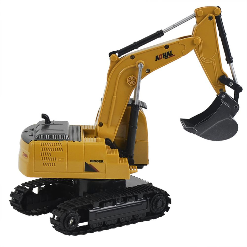LeadingStar RC Alloy Construction Car Digger 6 CH Alloy Excavator Crane RC Construction Vehicle Toys Alloy Car Model