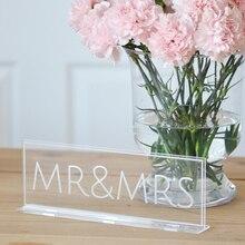 Mr& Mrs Свадебные вывески в помещении. Уличные уникальные в форме прозрачные модные вечерние