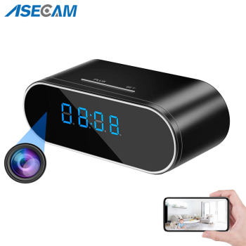HD 1080P WiFi Table Clock Mini Camera IP P2P DVR Camcorder Alarm Set Night Vision Motion Sensor Remote Monitor Micro Cam mini camera 1080 full hd clock alarm night vision motion detection wifi ip cam dv dvr camcorder home security surveillance hot