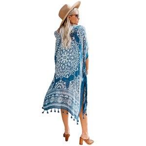 Новый бренд досуг бикини с кисточками прикрытие женщин 2019 летние выходные пляж носить один размер свитер куртка пляжные Комбинезоны для же...