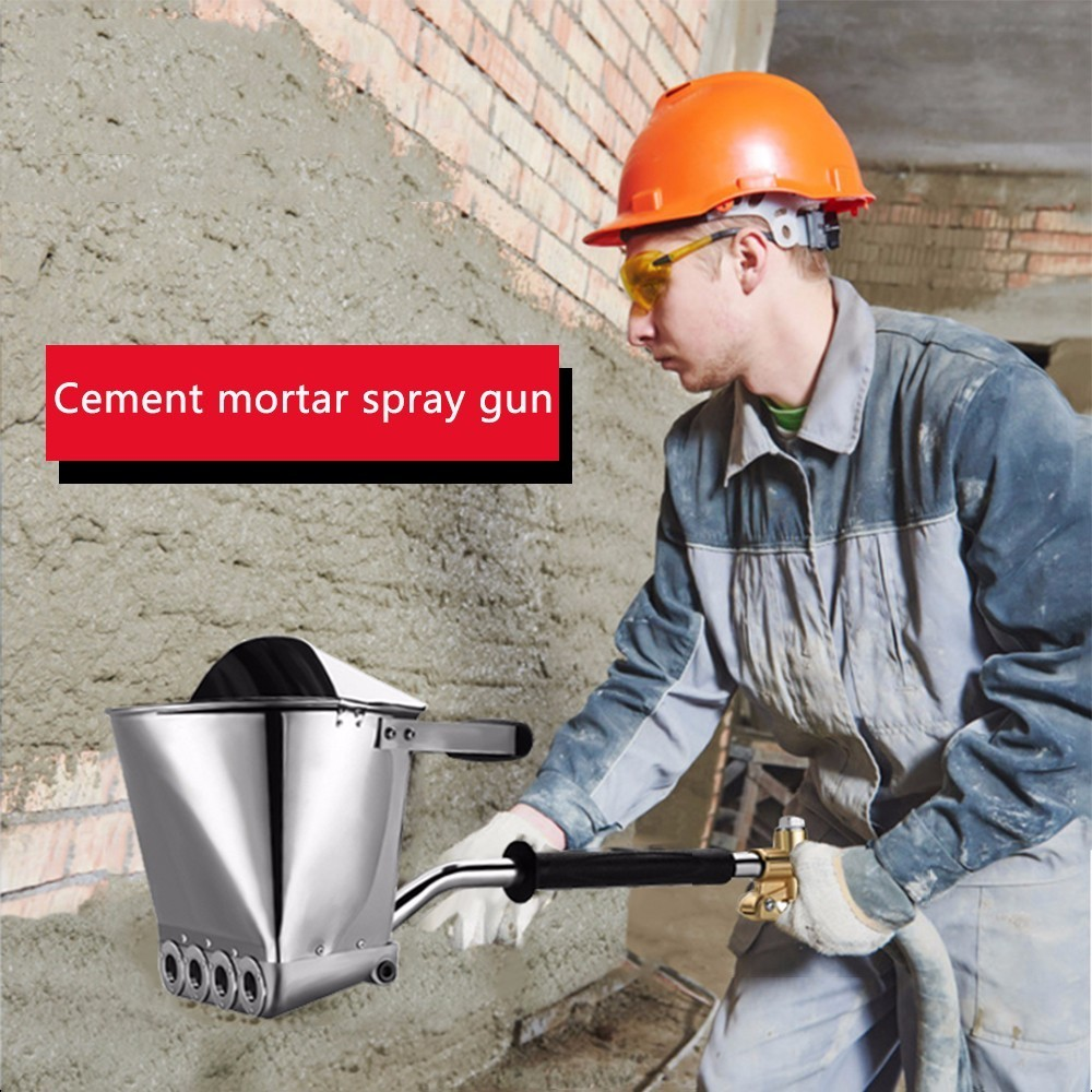 Fast Delivery Mortar Sprayer Wall Mortar GunHopper LadleAir Stucco sprayer Plaster Hopper GunStucco shovelCement Spray Gun