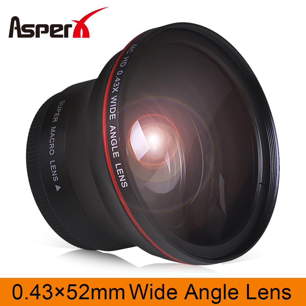 52mm Compatible New HD Wide Angle w//Macro Lens for Nikon D5000 D3000 D5300 D3300