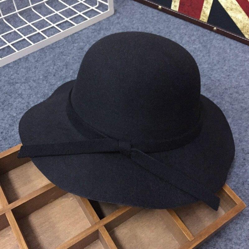 Fashion Girls Kids Bowknot Hat Bowler Sun Caps Bonnet Toddler Photography Props